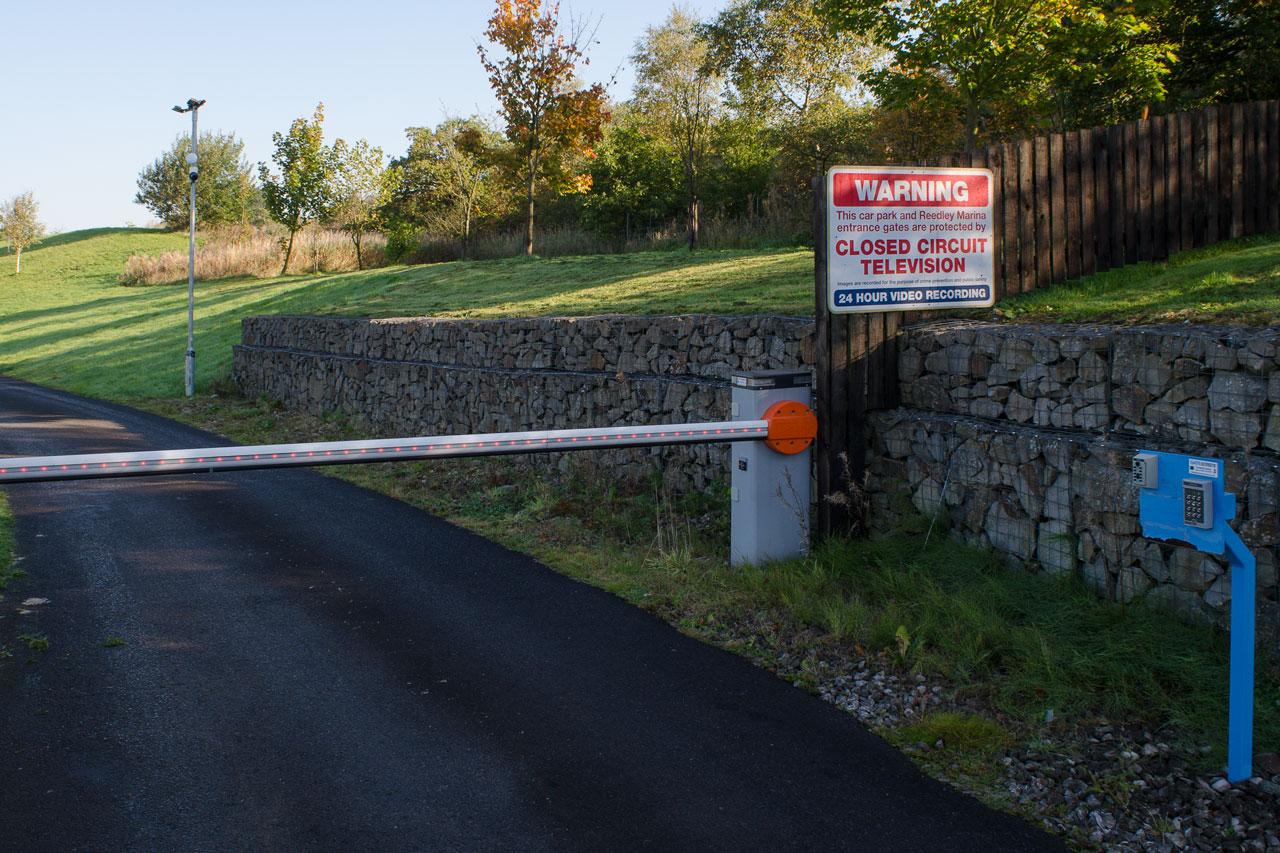 barrier and cctv at reedley marina