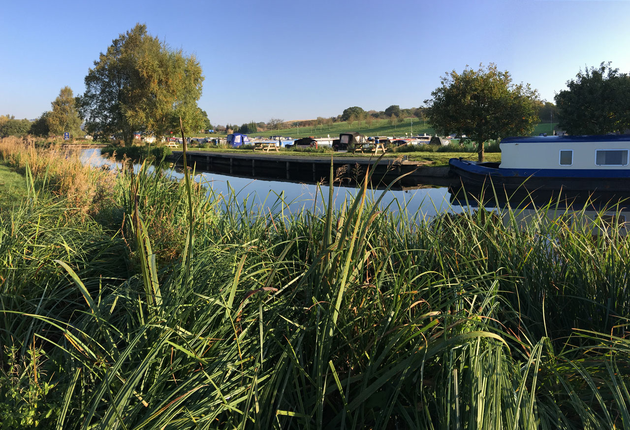 Reedley Marina on the Leeds Liverpool canal
